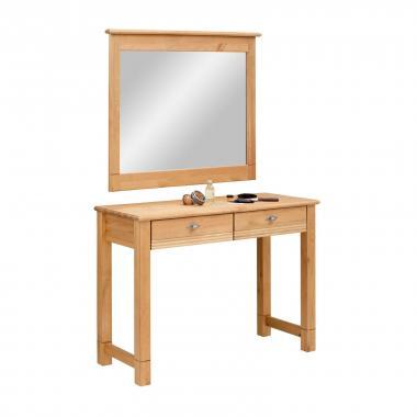 """Стол туалетный """"Рауна"""" с зеркалом (бейц/масло)"""