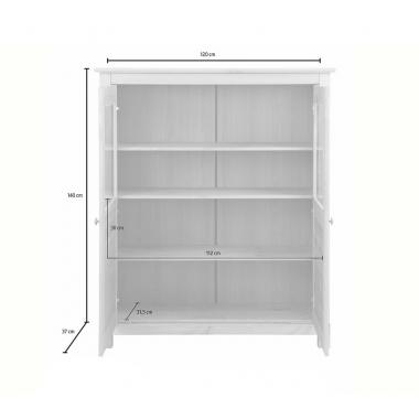 """Шкаф для посуды """"Рауна"""" 20 (белый воск УКВ)"""