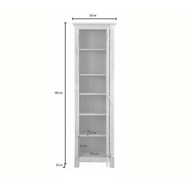 """Шкаф для посуды """"Рауна"""" 10 (белый воск УКВ)"""