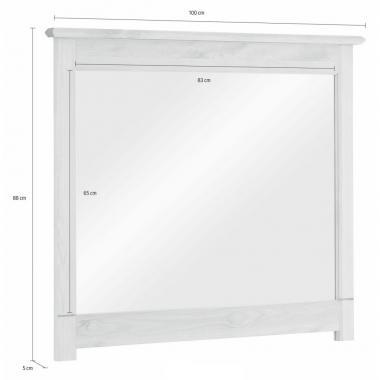 Зеркало навесное в раме Рауна-100 (белый воск УКВ)