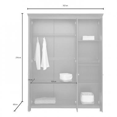 """Шкаф для одежды """"Рауна"""" 30 (белый воск УКВ)"""